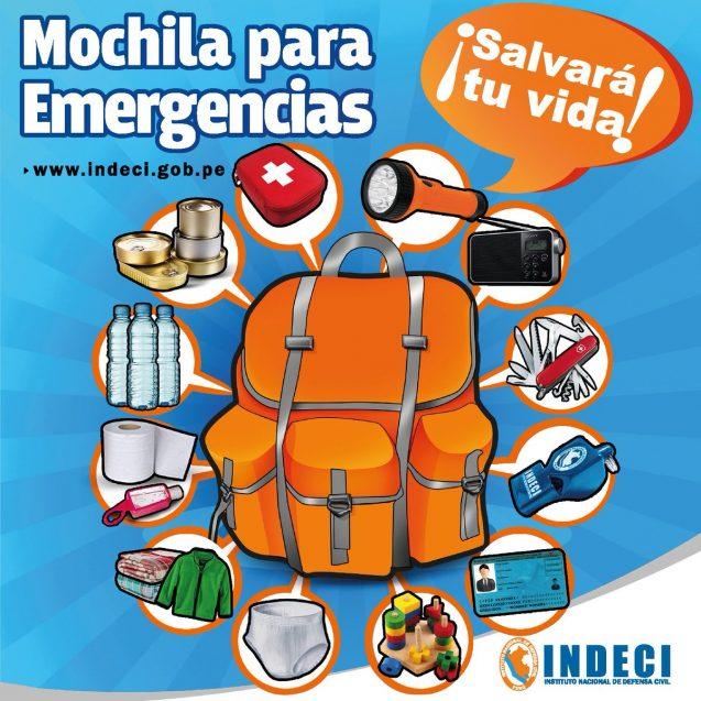 PREVENCION EN CATASTROFES Y MOCHILA DE EMERGENCIA